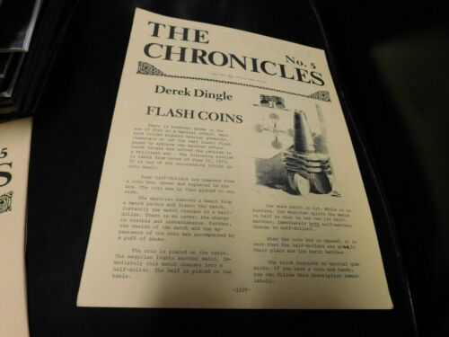 The Chronicles Magazine by Karl Fulves Magic #5 Derek Dingle, Cardini
