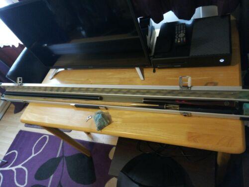 Cue Craft 4 Peice ash Snooker Cue set And Alluminium Cue Craft Case