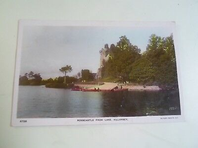 KILLARNEY, Rosscastle From Lake Vintage Colour Tinted RPPC Franked 1907   §B2128