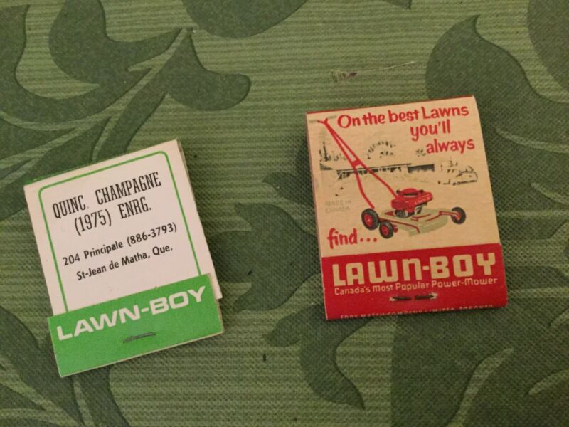Lawn Boy Power Mower Vintage Advertising Matchbooks From Canada