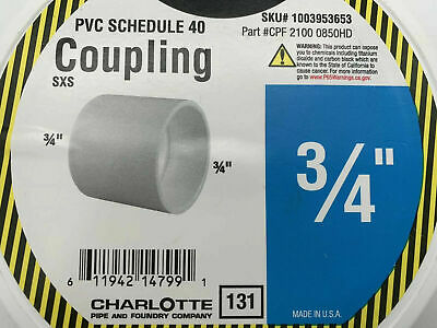 Charlotte 34 Socket Pvc Coupling Plumbing Pipe Fitting 150