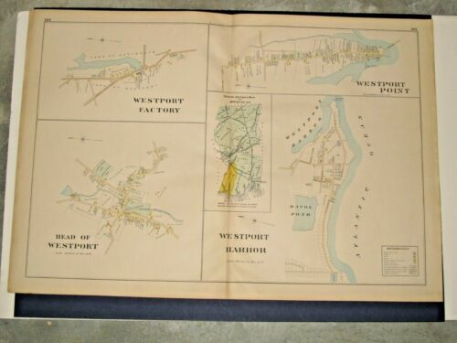 SECTIONS OF WESTPOINT, MA.,  1895 MAP REMOVED FROM EVERTS & RICHARDS ATLAS