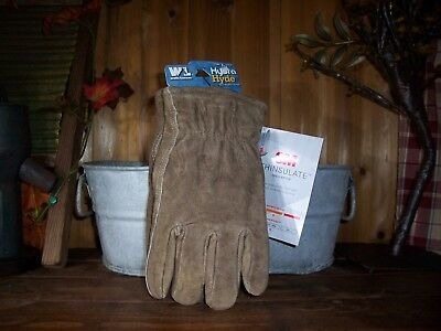 Wells Lamont Mens Cold Weather Heavy Duty Leather Work Gloves Size Large Warm