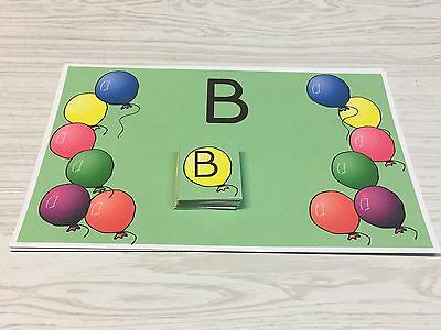 Balloon B Sort - Uppercase Lowercase -Laminated Activity Set - Teaching Supplies