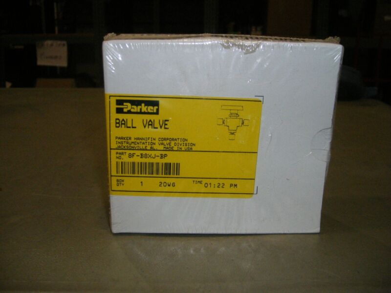 Parker Ball Valve 8F-B8XJ-BP 1/2 NPT New In Package