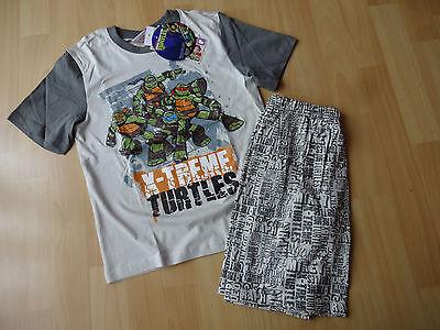 Ninja Turtles Pyjama Shorty Schlafanzug kurzarm blau Gr. - Ninja Turtles Schlafanzug
