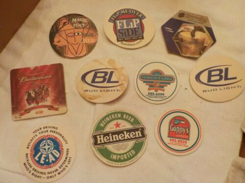 LOT OF ASSORTED BEER COASTERS