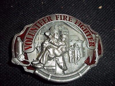 VNTG 1990 VOLUNTEER FIRE FIGHTER FIREMAN ARROYO BELT BUCKLE AG49 MADE IN USA