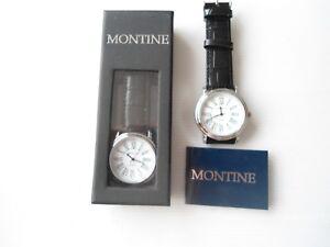 Gents Montine Quartz Watch.MOW3563GSW.BLACK LEATHER STRAP..
