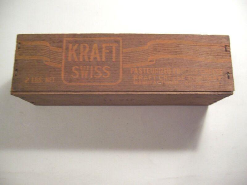 Vintage Kraft Velveta 2lb Wood box     #fx