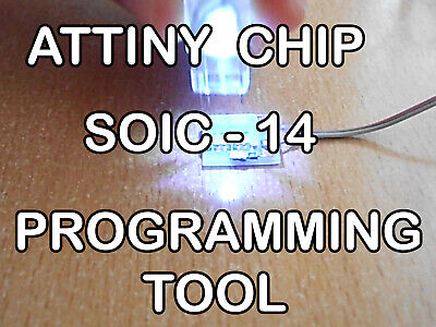 Atmel Attiny Smd Soic-14 Arduino Programmer Adapter With Led Light.