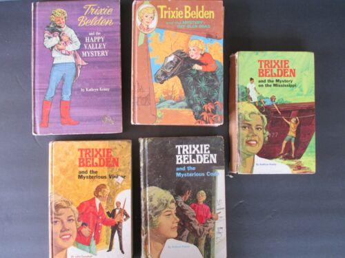 Lot of 5 TRIXIE BELDEN Vintage HC Julie Campbell Kathryn Kenny