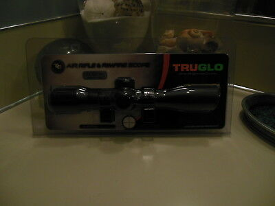 4x32 Air Riflescope - TRUGLO 4x32mm Rimfire & Air Rifle Scope with 3/8 Mounting Rings