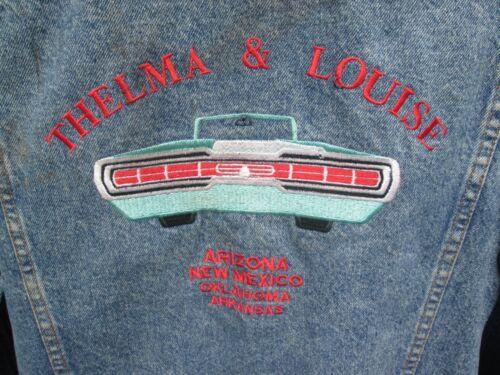 THELMA & LOUISE Vintage 1991 Film Cast Crew Jacket RIDLEY SCOTT GEENA DAVIS