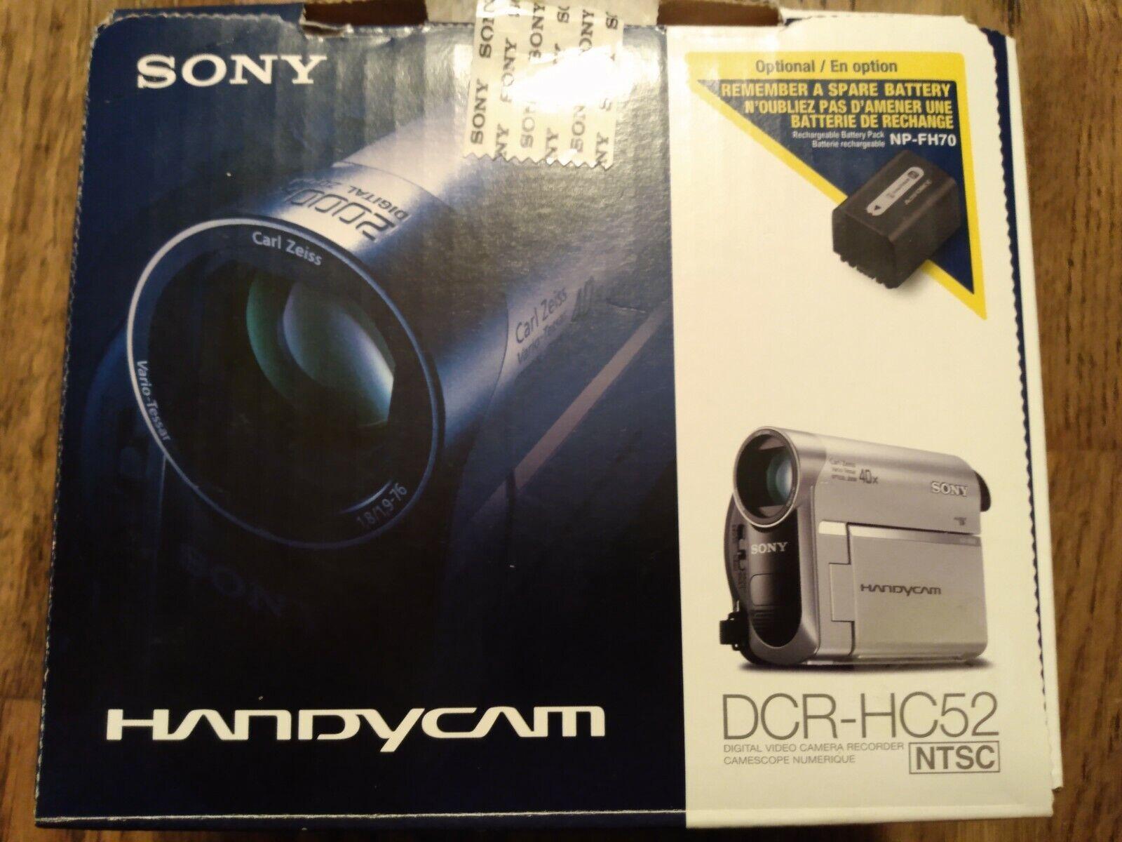 Sony DCR-HC52 2000x Zoom Handycam Digital Video Camera Recorder Zeiss 40x Zoom - $99.00