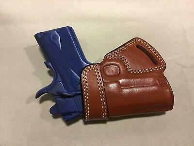 "Hand 1911 Leather - LEFT Hand Leather SOB Holster - COLT 1911 Officer 3"", KIMBER ULTRA (# 5093L BRN)"