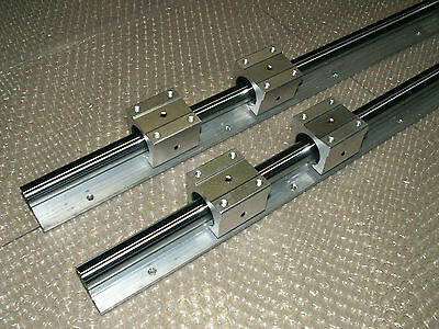 2 Set Sbr16-450mm 16mm Linear Slide Guide Rail Shaft4 Sbr16uu Bearing Block Cnc