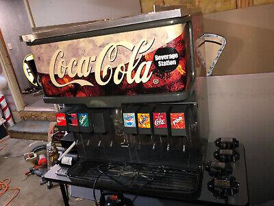 8 Flavor Soda Fountain Coke Cola Drink Dispensing Machine Flojets Meters More
