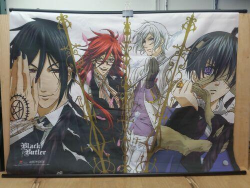 """Black Butler Yana Toboso Aniplex Banner Flag Poster Japanese Anime 42-1/2"""" Long"""