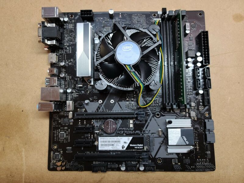 ASUS Prime H370M-Plus motherboard + Intel i7 8700 CPU + 16GB RAM+ 500GB WD NVME