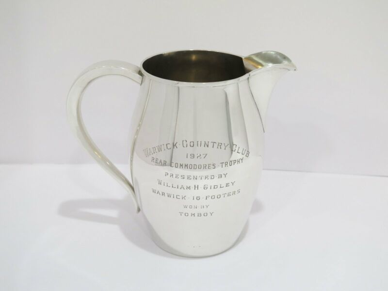 7.25 in - Sterling Silver Gorham Antique 4 Pint Water Pitcher