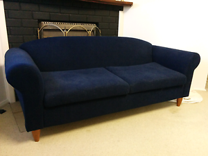 Navy 2.5 seater couch/lounge Peakhurst Hurstville Area Preview