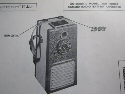 AUTOMATIC TOM THUMB CAMERA RADIO PHOTOFACT