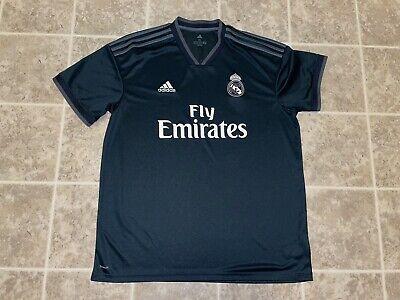 2018-19 Adidas Real Madrid Men's Away Soccer Jersey Black Size  XL La Liga image