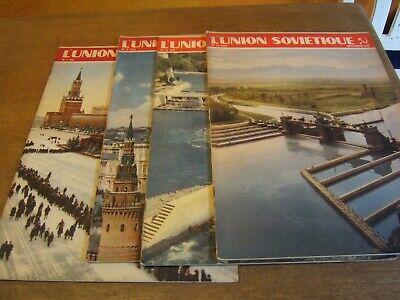 4 x ancienne revue mensuel L'UNION SOVIÉTIQUE .......1951
