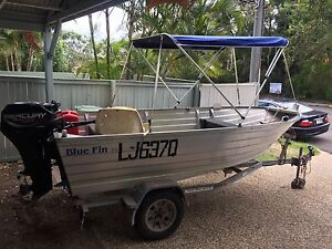 Tinny with 25 hp outboard and trailer for sale Indooroopilly Brisbane South West Preview