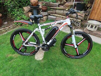 PedalEase electric bike 48V 500W dual suspension Mag wheels white colour