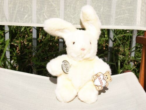 """VINTAGE GUND -YELLOW NIBBLES -BUNNY RABBIT -10 1/2"""" - #3434 -1989 -NEW-ALL TAGS"""