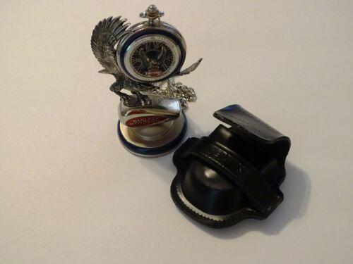 HARLEY DAVIDSON Franklin Mint Pocket Watch HERITAGE SPRINGER Stand Chain Case
