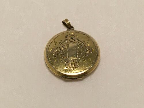 Vintage 1/20 12K Gold Filled GF Hayward Engraved Floral Locket Pendent Charm