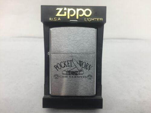 CASE ZIPPO 1996 * CASE XX  KNIVES * POCKET WORN CANOE UNFIRED SEALED