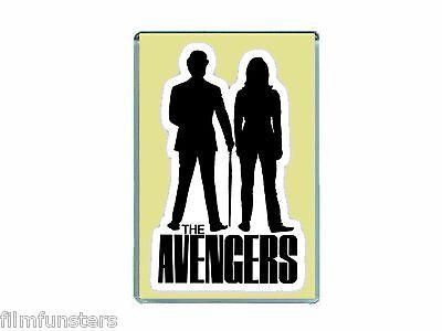 NOSTALGIA 'THE AVENGERS TV' EMMA PEEL & STEED - JUMBO FRIDGE MAGNET
