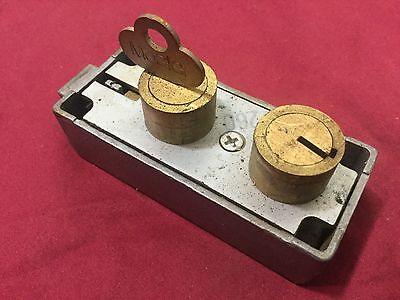 Mosler Safety Deposit Box 3210 Aluminum Case With Key - Locksmith