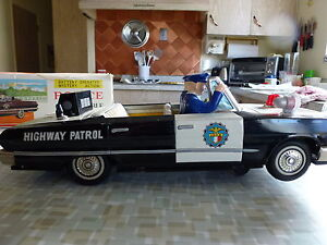 Metal Police Convertible Toy Car