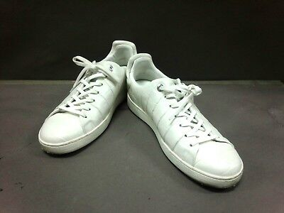 Auth LOUIS VUITTON Frontrow Line Sneakers White Leather MS0165 Men