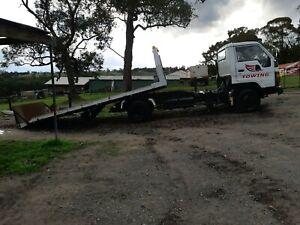 Tow truck tilt tray with reg