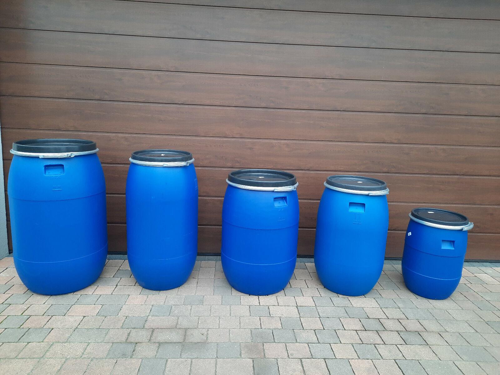 Weithalsfass Futtertonne Fasssilage Kunststoff Regen Fass Gepäcktonne 60-220l