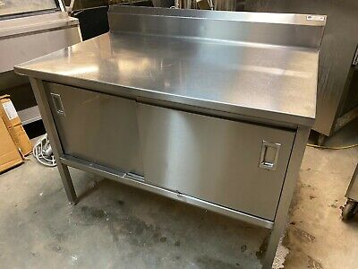 John Boos 48 X 30 Commercial 16 Gauge Stainless Steel Work Enclosed Cabinet