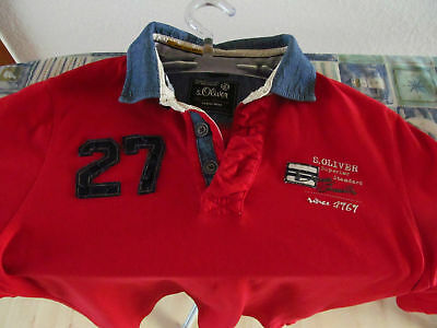 S. Oliver Sweatshirt High Neck Pullover Hoodie Rot - Blau , Neuwertig High Neck Sweatshirt