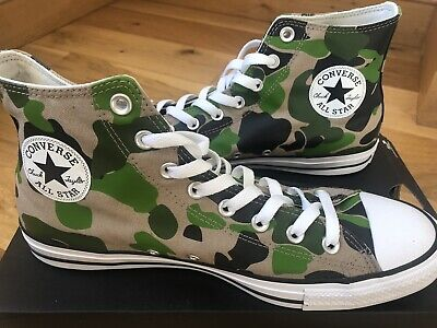New Converse All Star Hi Shoes Trainers – Camo Green in UK...