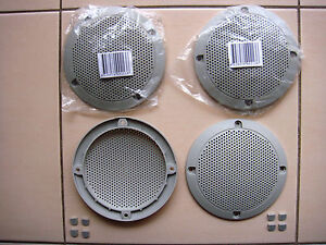 4 Inch GREY Speaker Grills With Screw Covers Set of 4 !BARGAIN PRICE - MUST GO!