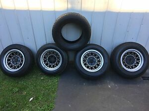 4 Hotwire 14 x 7 rims 5 x 80% tread tyres holden Ht /  Torana wheels Mollymook Beach Shoalhaven Area Preview