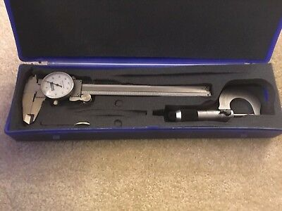 Fowler Metrology 6 0.001 Dial Caliper And 0-1 .0001 Micrometer With Case