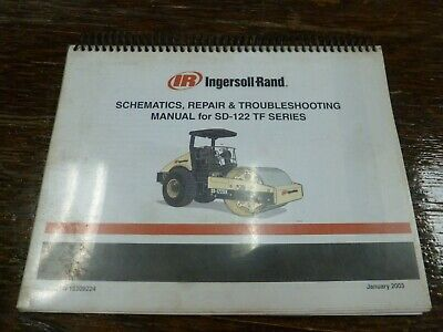 Ingersoll Rand Sd-122tf Smooth Drum Roller Schematics Shop Service Repair Manual