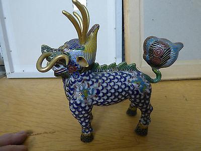 Fu Hund Metallobjekt KeramikSkulptur-China-Feng Shui-Asiatika aufwend Handarbeit