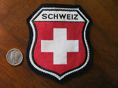Vintage German, Germany, Schweiz Coat of Arms Travel Souvenir Patch V-2